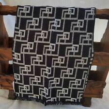 Men's Patterned Silk Scarf - Black & White