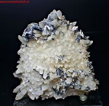 rare old STIBNITE on QUARTZ crystal Antimonit SCHEMNITZ Slowakei Slovakia hu