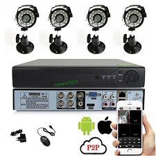 4CH 1000TVL 4 camera KIT Waterproof Outdoor CCTV Security Camera IR Night Vision