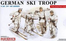 Dragon 1/35 6039 WWII German Ski Troops (4 Figures w/Photo-Etched Parts)