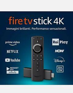 Amazon Fire TV Stick 4K Ultra HD Con Telecomando Vocale Alexa (NON È IL LITE).