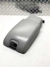 04-07 JAGUAR XJ8 SLIDING CENTER CONSOLE ARMREST ARM REST LID GREY LEATHER OEM