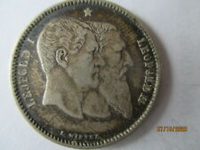 More details for  belgium  silver  franc dated  1880 gf