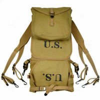 WWII US Army M1928 Carrying Backpack Canvas Field Rucksack Bag