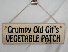 Shed Sign Grumpy Old Git's Vegetable Patch Garden Allotment Gardening Farm Plot