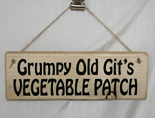 Shed Sign Grumpy Old Git's Vegetable Patch Garden Allotment Gardening Yard Plot