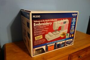 NEW IN SEALED BOX Brother Embroidery Machine PE500 thread hoop needle LCD PE 500