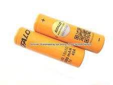 2 Authentic KFALO18650 Flat Top Battery/2800mAh 40A 3.7V High Drain/Shaped Core