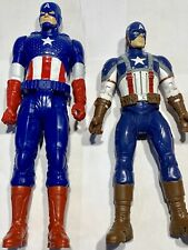 (2)Marvel Captain America Action Figures