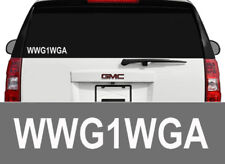 WWG1WGA DECAL STICKER TRUMP STORM QANON Q ANON RABBIT BREAD CRUMB 5 IN WHITE