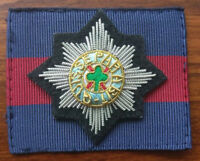 Irish Guards Officers Embroidered Cap Badge & Backing