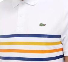 Lacoste Sport À Rayures Polo Shirt-XL T6-Blanc-Ultra Dry-DH3138-Bnwt