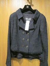 CHANEL Black Lined Jacket Size 38