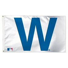"""New listing Chicago Cubs """"W"""" Logo 3'X5' Deluxe Flag Brand New Free Shipping Wincraft"""