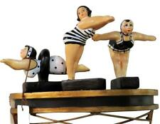 Bathing Beauty Set 3  Swimsuit Figurines Figures In Black & White Suits