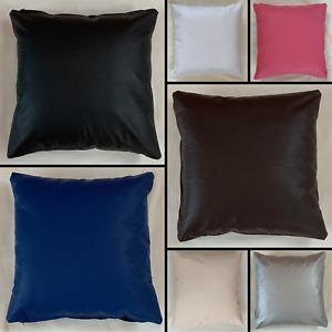 Handmade PVC Cushion Cover Pillow Case Vinyl Faux Leather Home Sofa Bed Decor