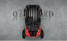 2 SEAT POLARIS RZR CAN-AM GREY FLAG UNIVERSAL ROOF WRAP STICKER GRAPHIC DECAL