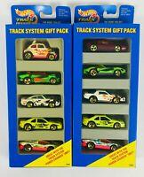 1994 Hot Wheels Track System 5 car Gift Pack 2 Packs 13366