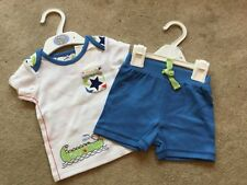 **BNWT** MARKS & SPENCER TOP & SHORTS SET ~ 100% COTTON ~ 0-3 months