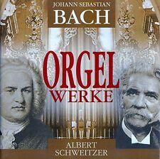 J.S. BACH : ORGELWERKE - ALBERT SCHWEITZER / 2 CD-SET - TOP ZUSTAND