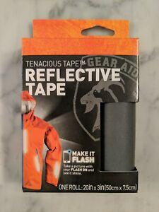 Gear Aid Tenacious Tape Reflective Fabric Peel & Stick Tape 20in x 3in Roll