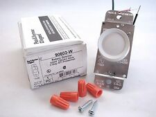 Pass & Seymour 90603-W White Rotary Dimmer Switch Push On/Off 3-Way 600W b226