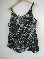 SUSSAN Tank top Sz 16 Black and white print BNWT
