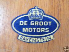 SEWING PATCHES DE GROOT MOTORS RAVENSTEIN BADGE OPNAAI EMBLEEM