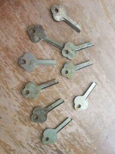 9 Original Patina Vintage YALE & TOWNE R481 1/2 UG Key Blanks ILCO 1060C R481