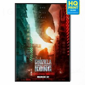 Godzilla vs. Kong 2021 Monsterverse Movie Poster Print   A5 A4 A3 A2 A1  