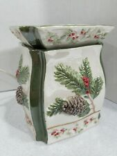 Yankee Candle Wax Melt Warmer Ceramic Pine Forest Holiday Gift Electric EUC