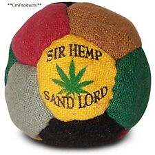 World Footbag Sir Hemp Hacky Sack Black Green Grey Red Tan Yellow