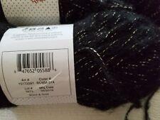 2 Buttercream Mohair Yarn Metallic Yarn Black and Gold BCMM-514 same lot