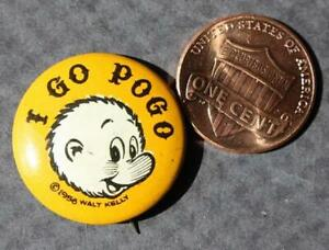 1956 Walt Kelly I Go Pogo for President comic strip campaign pin-DATED & CUTE!