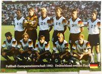 Deutschland 2.Platz Fußball Europameisterschaft 1992 + Fan Big Card Edition A54