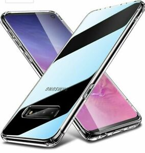 CLEAR Case For Samsung Galaxy S10 Silicone Gel Shockproof New (2 in Pack) UK