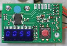 """Contador contador Revox PR99 sin cero supresión, azul, 5,1 mm 5,08 mm 0.2 """"de altura"""