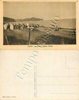 Cartolina di Lavagna, spiaggia con bagnanti - Genova