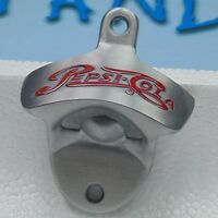 Pepsi Cola coke Metal Polished Wall mount ( Mounted ) Bottle opener open here
