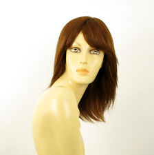 perruque femme 100% cheveux naturel châtain clair cuivré ref ROSALIE 30