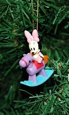 Minnie Mouse On A Rocking Horse Mini Christmas Ornament