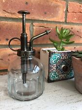 Style vintage glass watering can Mister flower garden plant Spray Bottle & pump