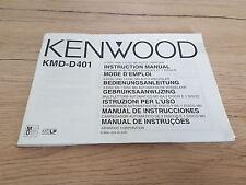 Originale Kenwood manual de instrucciones para kmd-d401 12 meses de garantía *