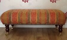 A Quality Long Footstool In Laura Ashley Lovage Multi Fabric