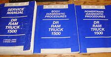 2002 Dodge Ram Truck 1500 Shop Service Manual + Diagnostic Procedures Set of 3
