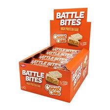 Morsi di battaglia barrette proteiche Confezione da 12 a basso contenuto di carboidrati & ZUCCHERO morbida al forno Torta alle carote