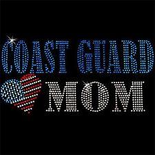 Rhinestone Transfer - Hot Fix Motif -  Coast Guard Mom