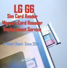 LG G6 Sim Card Reader SD Memory Card Reader Tray Repair Replacement Service