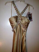 Gold Night Moods Womens Dress Size 4