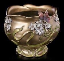 Art Nouveau Pot de Fleurs - Papillon - Veronese Noble Vase Coquille Déco